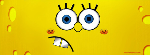 Spongebob Squarepants Face 2 Facebook Cover