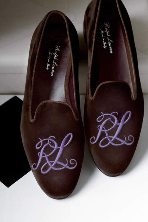 Purple label slippers