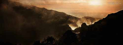 Foggy Morning Mountain Sunrise Facebook Cover
