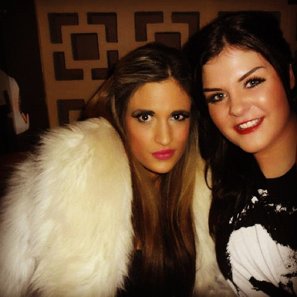 #miss my #rachel #fur #coat #pink #lipstick #drinks #fashion #stylist #charliefi  (Taken with instagram)