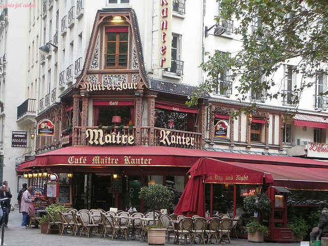 | ♕ |  Cafe Maitre Kanter - Les Halles, Paris  | by © parisjet'aime