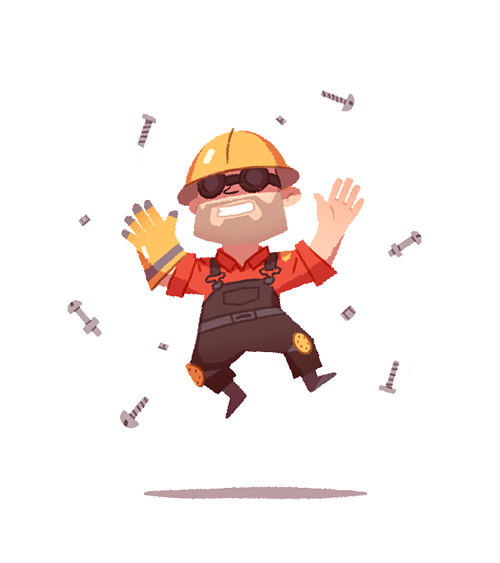 everythingillustrated:  source: TF2 Engineer by anneka tran