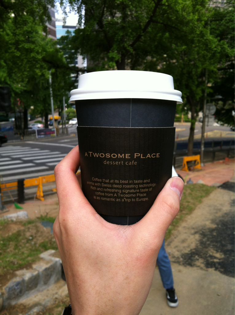 Coffee is big in Seoul