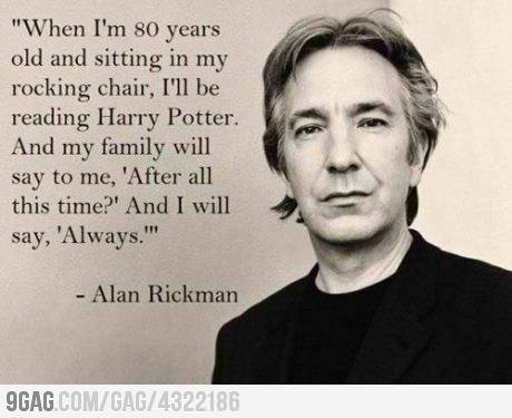 9gag:  Just Alan Rickman