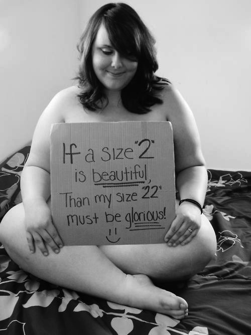 This photo just made my day :) It's not that im fat, but it make me cry whe i see    people with so much confidence about themselfs ( not to much, I hope we're on the same direction).  I just think that this girl is sooo cute and beautiful and she's another proove that oversize is not ugly!
