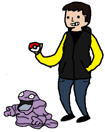 todd-1:  Saw people drawing themselves with Pokemon and I wanted to give it a shot.So bad at art.And I really hate drawing with a mouse.   That is a pretty sweet grimer