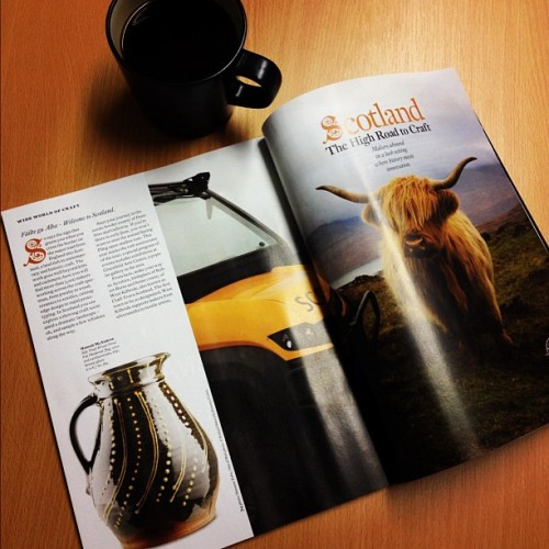 Delighted to see the finished feature on Scottish craft hubs in @AmericanCraft (Taken with instagram)