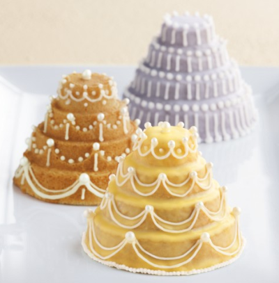 Mini tiered cakes!  http://www.williams-sonoma.com/products/mini-tiered-cakelet-pan/?pkey=ccake-pans