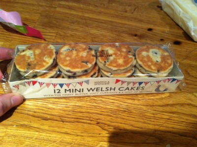M&S Mini Jubilee welsh cakes from Chloe Rhys.