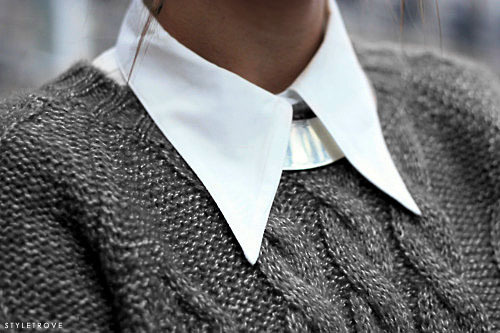 styletrove:  Collar layering. Perfection.
