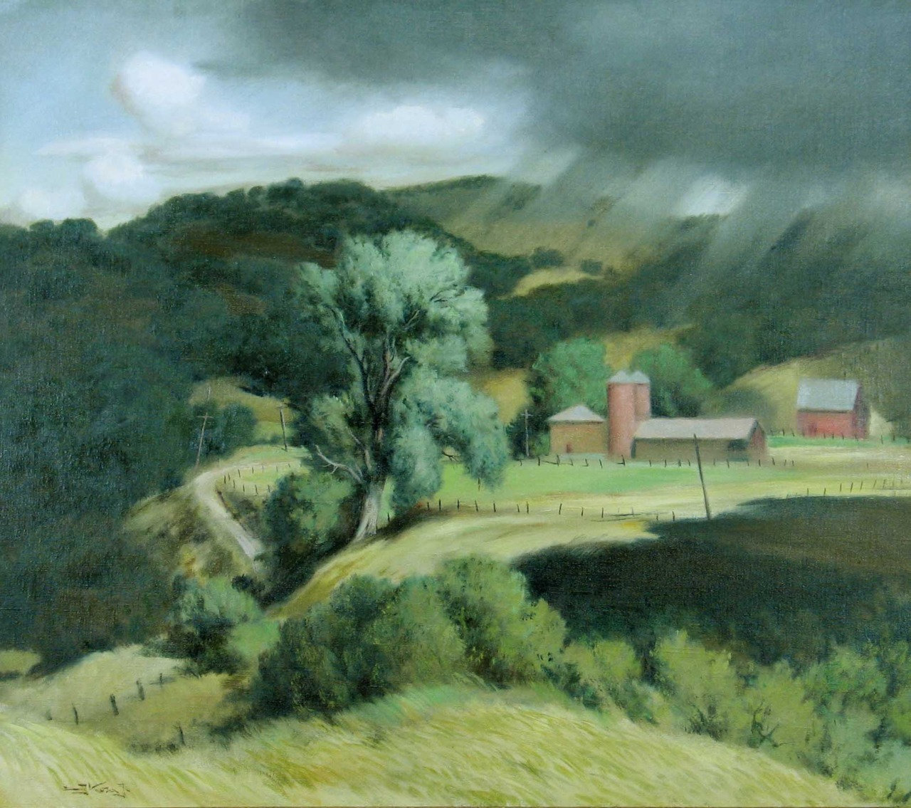 chasingtailfeathers:  Emil Kosa, Jr. (American, 1903-1968) Approaching Storm, Hidden Valley, 1940 Oil on canvas