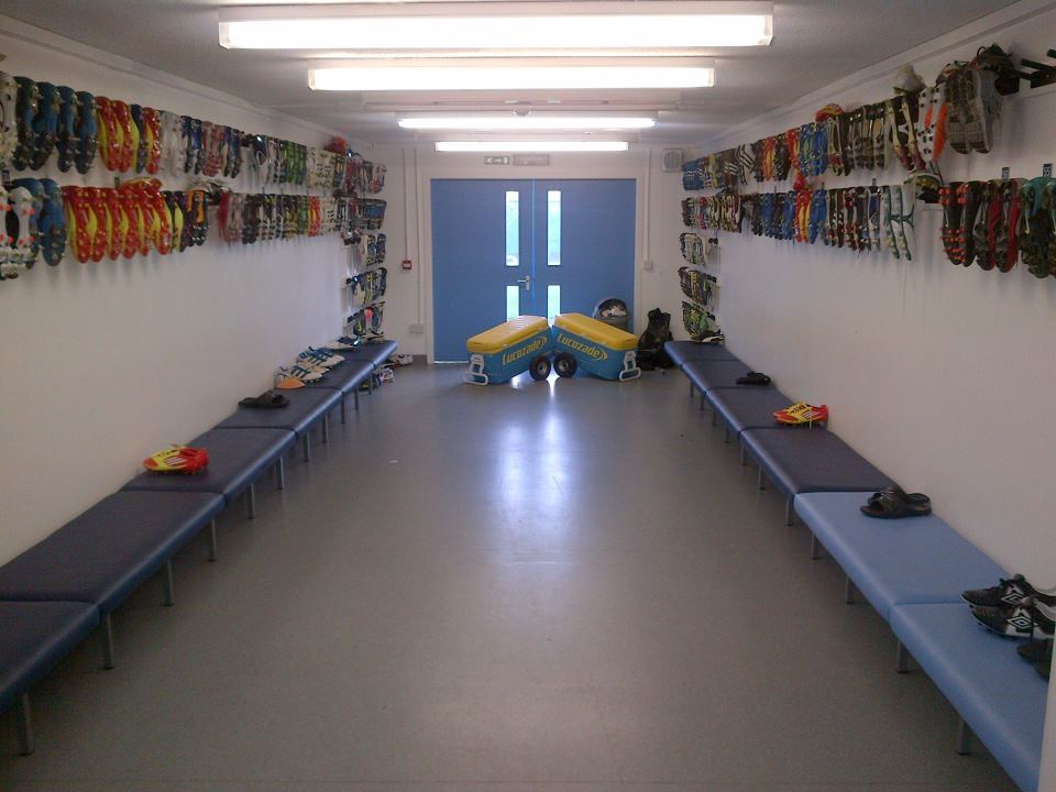 bootsndbitches:  The Man City bootroom