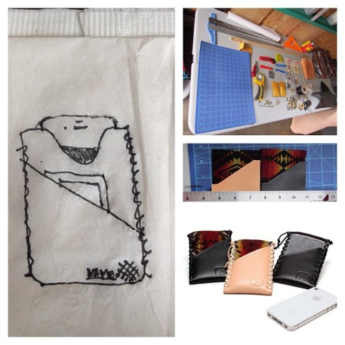 An idea that was drawn on a napkin evolved into a reality with the support of great friends and family! Thank you everyone! #leather #family #portland #oregon #pdx #handmade #handmade #idea #fashion #accessories #thanks #support #local