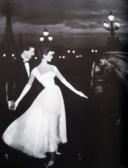 theniftyfifties:  Carmen Dell'Orefice in evening wear for Harper's Bazaar, October 1957.