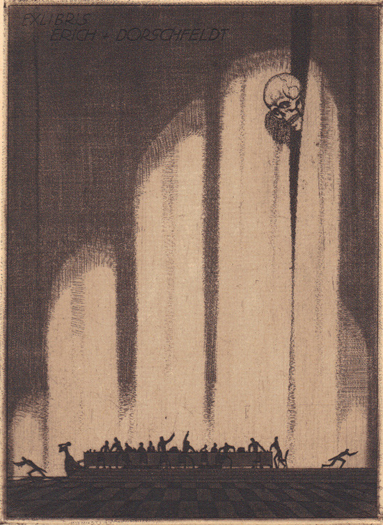 mirroir:  Helfenbein. Ex Libris Mr. Reaper (9) - Bookplates from the collection of Richard Sica.  Bookplates are the best. In addition to books, I also want to cover the walls of the store with them.