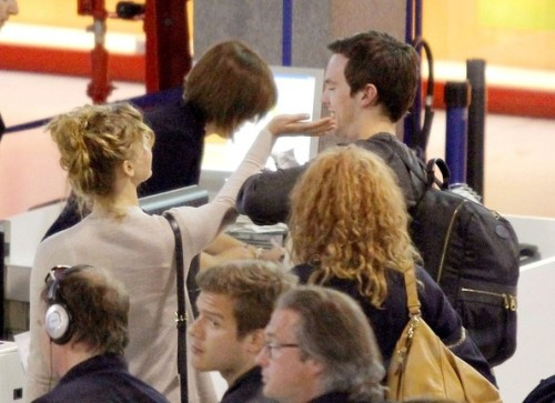 Jennifer Lawrence and Nicholas Hoult, Nice Airport, 27/05/12