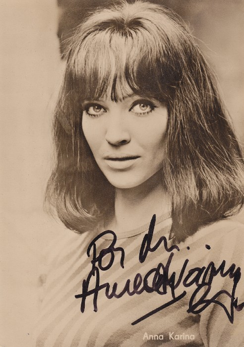 Autographed publicity photo for Made in USA, 1966.