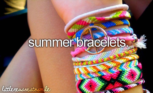more like year round bracelets;)