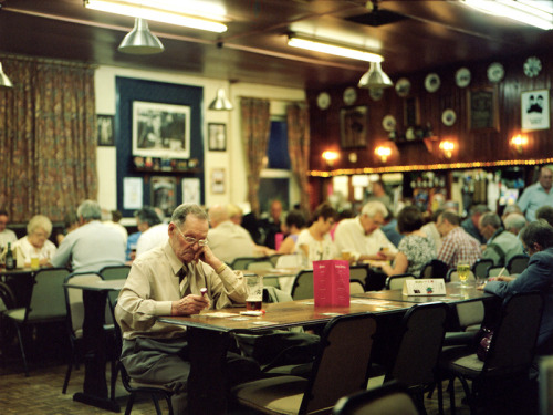 Playing Bingo, alone - Boothy's Working Mens Club, Mansfield, from Thanks Maggie David Severn