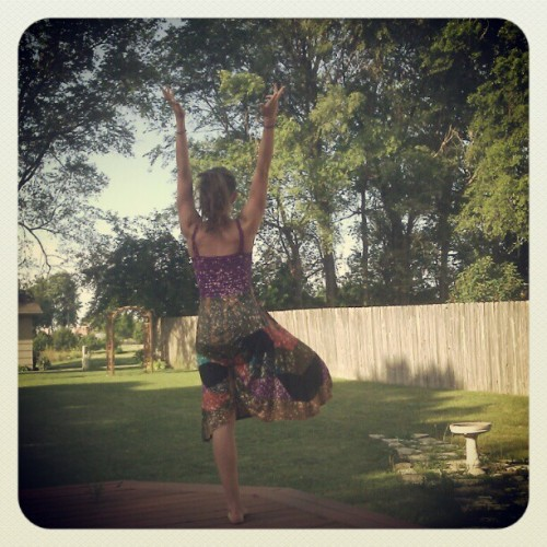 May 26 - Tree! #mayyogaphotochallenge #yoga #tree #me  (Taken with instagram)