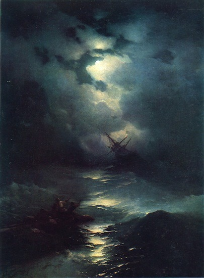 proustitute:  Ivan Konstantinovich Aivazovsky, Storm in the North Sea, 1865