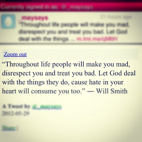 irsmaya:  #respect #hate #life #quotes #quote #lifequote #willsmith (Taken with instagram)