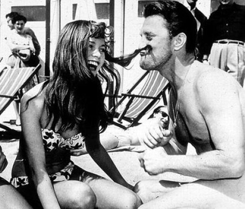 awesomepeoplehangingouttogether:  Brigitte Bardot and Kirk Douglas