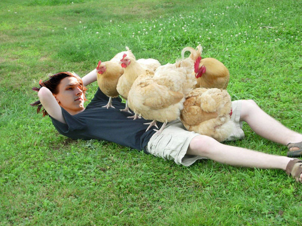 Chris, seen hanging with chicks.