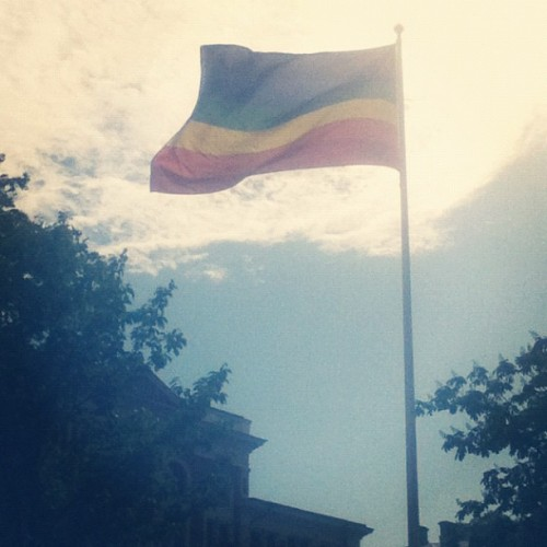 Even this school (6-10 year olds) has one. #hbtq #göteborg #prideflag #pride #gothenburg #prideflags #hbtqfestival (Taken with instagram)