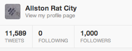 1,000 Twitter followers. Hey now. http://www.twitter.com/allstonratcity