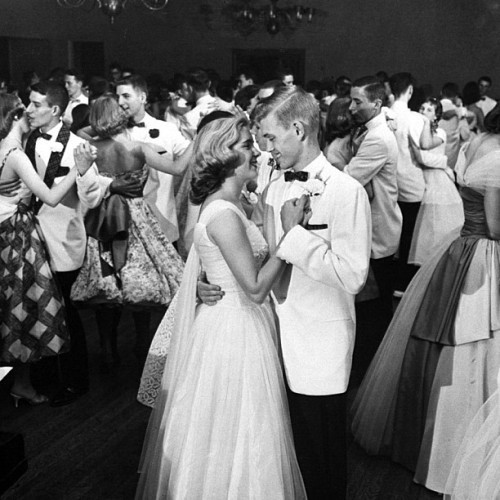 "In 1958, LIFE documented a prom that went on, and on, and on… For 32 hours to be exact. Original caption from LIFE. ""Formal dance held at the Kenwood Country Club was only traditional part of Mariemont's prom."" Francis Miller—Time & Life Pictures/Getty Images - life http://instagr.am/p/LQREVqFE0f/"