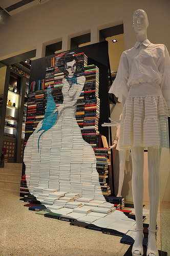 Mike Stilkey Instillation in Hong Kong luxury retail giant Joyce.