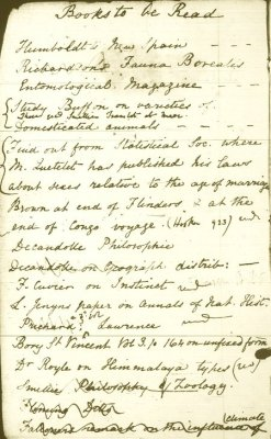 Charles Darwin's Pocket Notebook