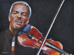 """El violinista"" Acrílico sobre papel. ""The Violinist"". Acrylic on paper. Daniel Sheehan photography"