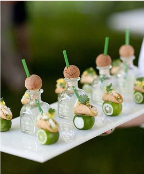 georgianadesign:  Mini Fish Tacos & Patron Margaritas by Peter Callahan. Mel & Co. photo.