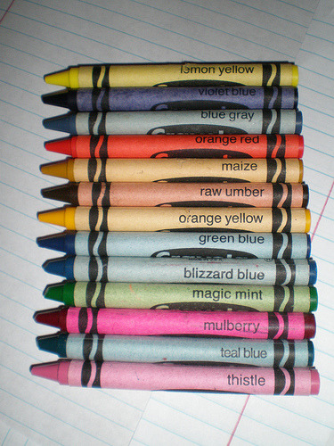 imremembering:  Retired Crayons via