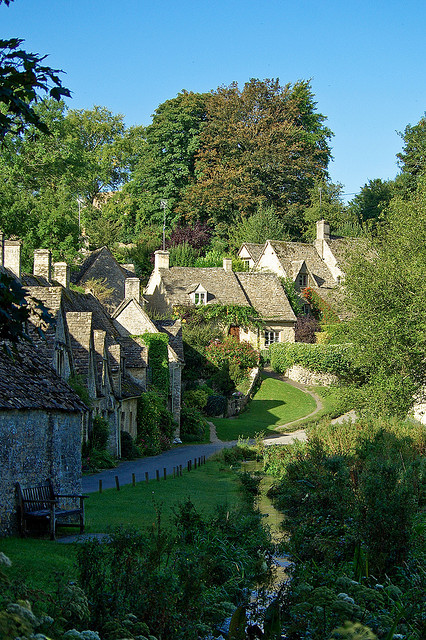 visitheworld:  Arlington Row in Bibury, one of the most beautiful villages in Gloucestershire, England (by Bobrad).