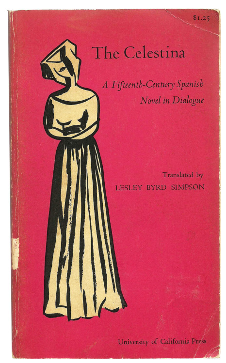 The Celestina, vintage cover via Vintage Edition. The cover's even more awesome because the translator's name is Lesley. :)
