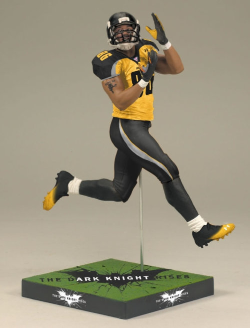 popculturebrain:  Hines Ward Dark Knight Rises action figure is a thing. (via Collider)