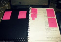 My notebooks ft. the post-its