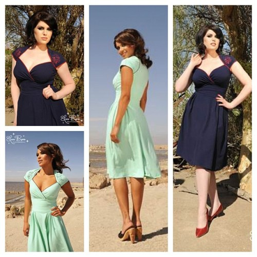 The Luscious Dress by Pinup Couture in Sea Foam with Mermaid Embroidery, and Navy with Octavio the Octopus embroidery - coming very soon to PinupGirlClothing.com - modeled by @lesleyannbrandt and Doris Mayday, photo by @laurabyrnes, makeup and hair by @michelinepitt #pinupgirlclothing #dorismayday #pinupcouture #laurabyrnes #lesleyannbrandt #michelinepitt #vintageinspired #pinup (Taken with instagram)