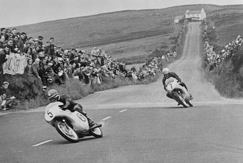 ironandair:  1961 Isle of Man TT Race 125cc, Luigi Taveri, Mike Hailwood
