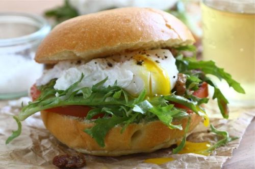 salade lyonnaise sandwich from A Cozy Kitchen