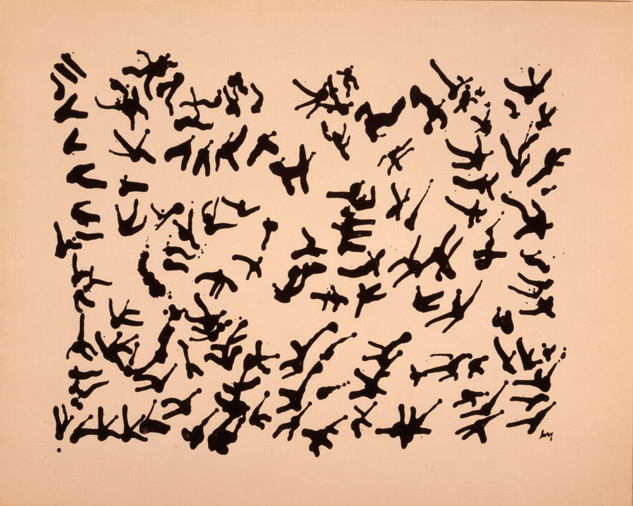 Henri Michaux, Mexican Chinese Ink 1961