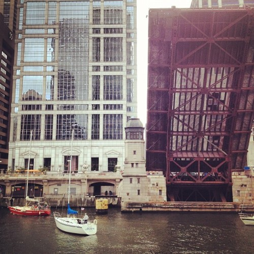 Sail.  (Taken with Instagram at Clark St Bridge)