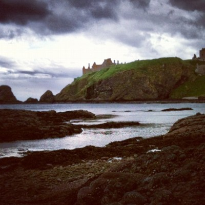 Dunnottar Castle #castle #ruins #dunnottar #dunnottarcastle #stonehaven #scotland #sky #clouds #cliffs #grass #sea #seaside #water #ocean #northsea #beach #coast #coastal #rockpool #rockpools #nature #landscape #beautiful #silhouette #lovely  (Taken with instagram)