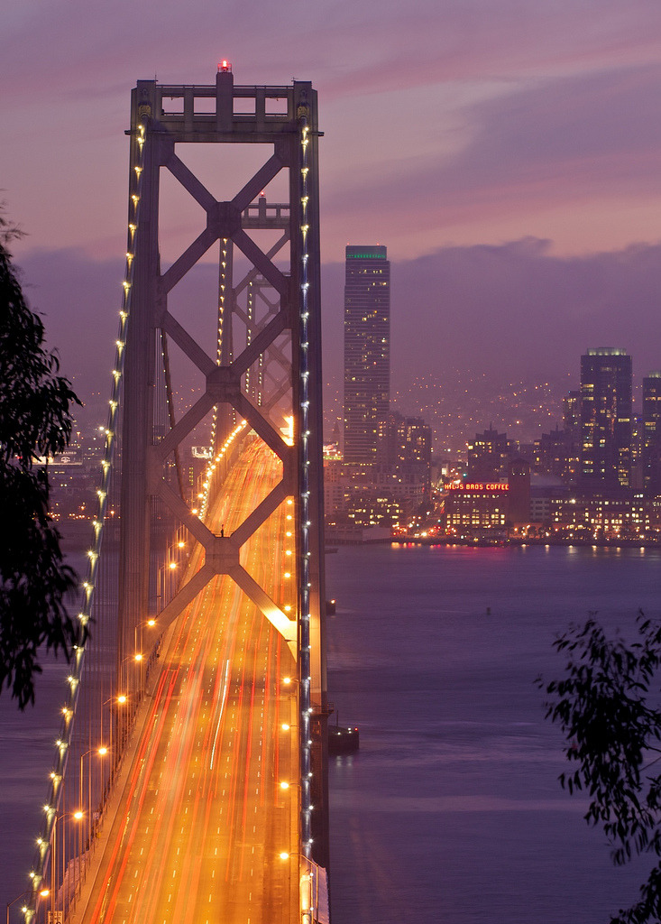photographic-energy: Bay Bridge Blue Hour II (by soukup12)