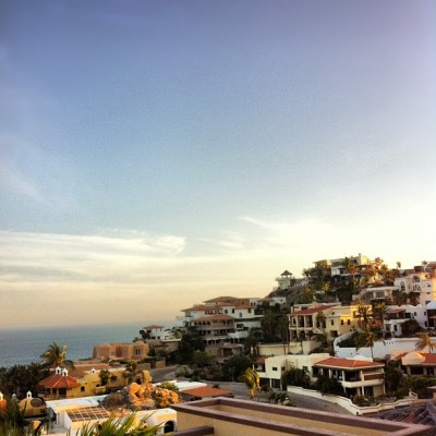 Sunset over hills of Pedegral - Cabo San Lucas (Taken with instagram)