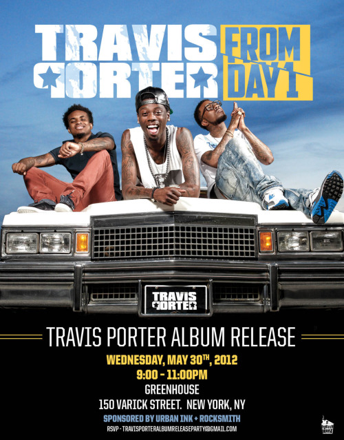 Tonight NYC! @TravisPorter Album Release Party at Greenhouse RSVP to travisporteralbumreleaseparty@gmail.com