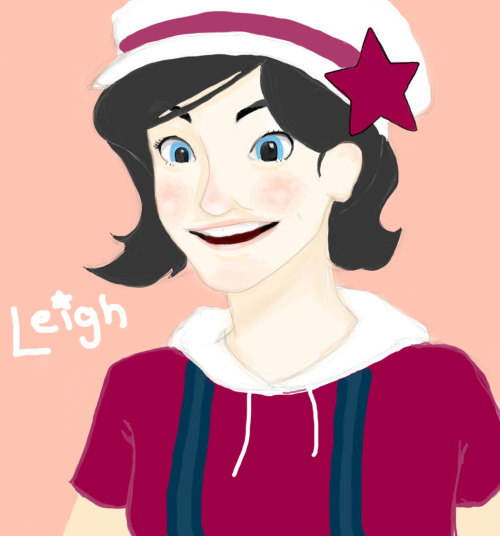 CHARLIE. c: I finished her!  Here's your Leigh. She was a lot of fun to draw, actually. c: Hope you liiike.